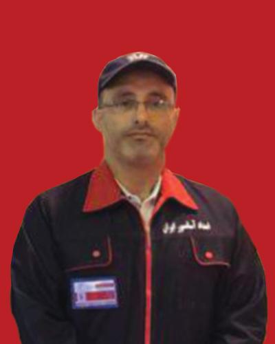 آقای حسنی سرپرست تیم فنی امداد آسانسور